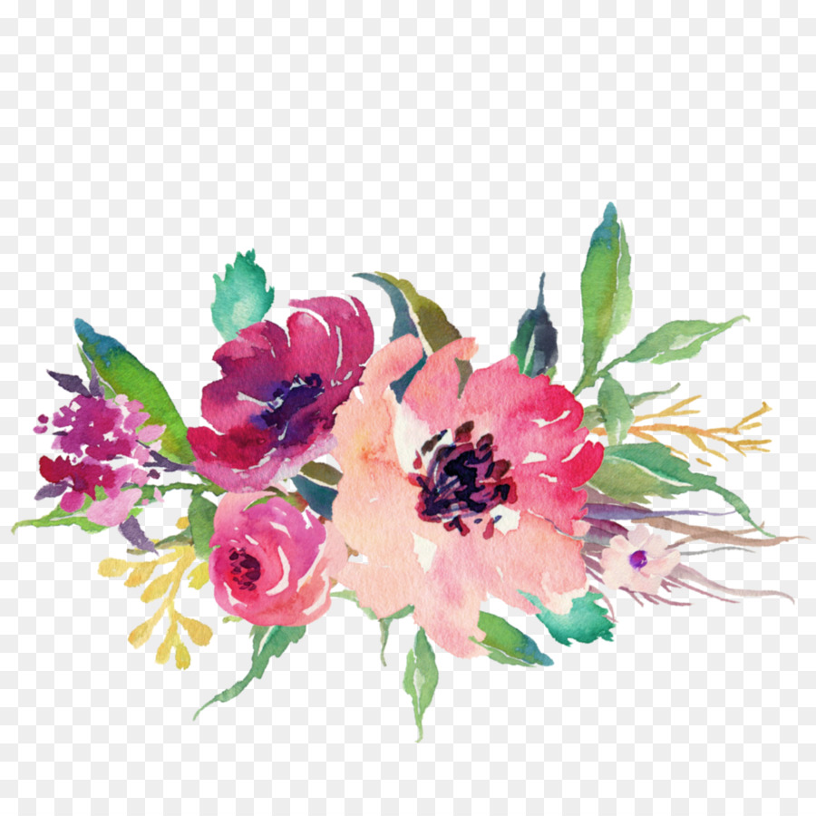 Sticker flower floral design pink png