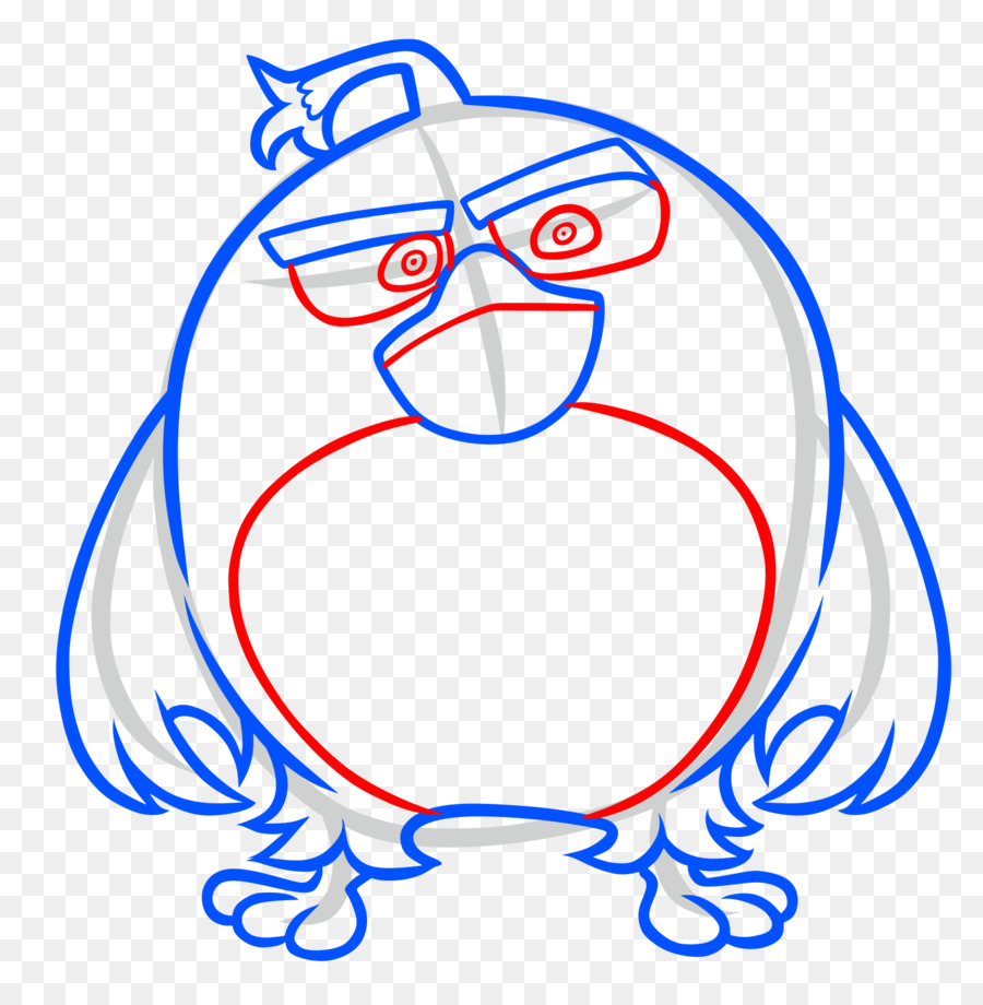 Mighty eagle drawing angry birds movie line art white png
