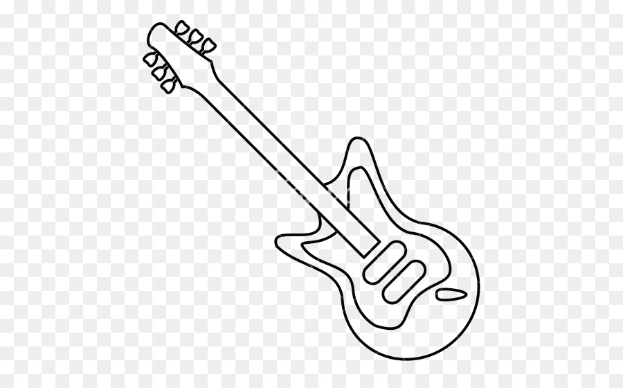 Guitar Line Art Vector Graphics Illustration Music