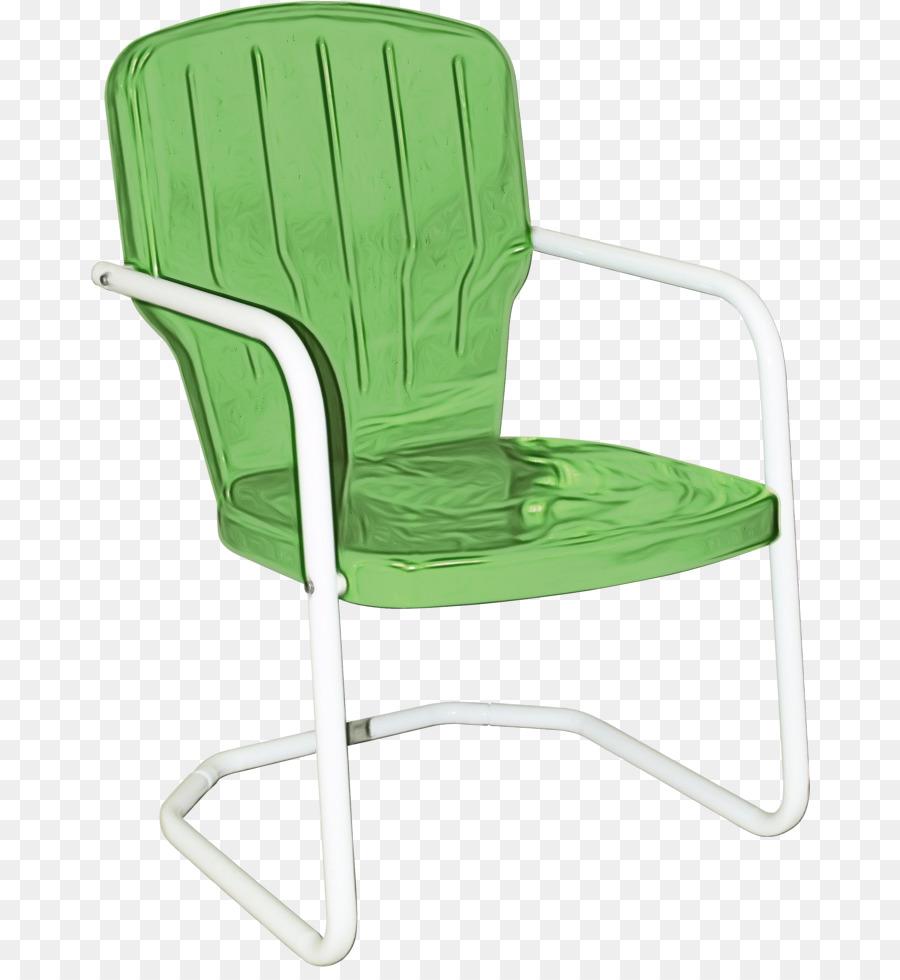 Garden Furniture, Retro Metal Chairs, Chair, Green PNG