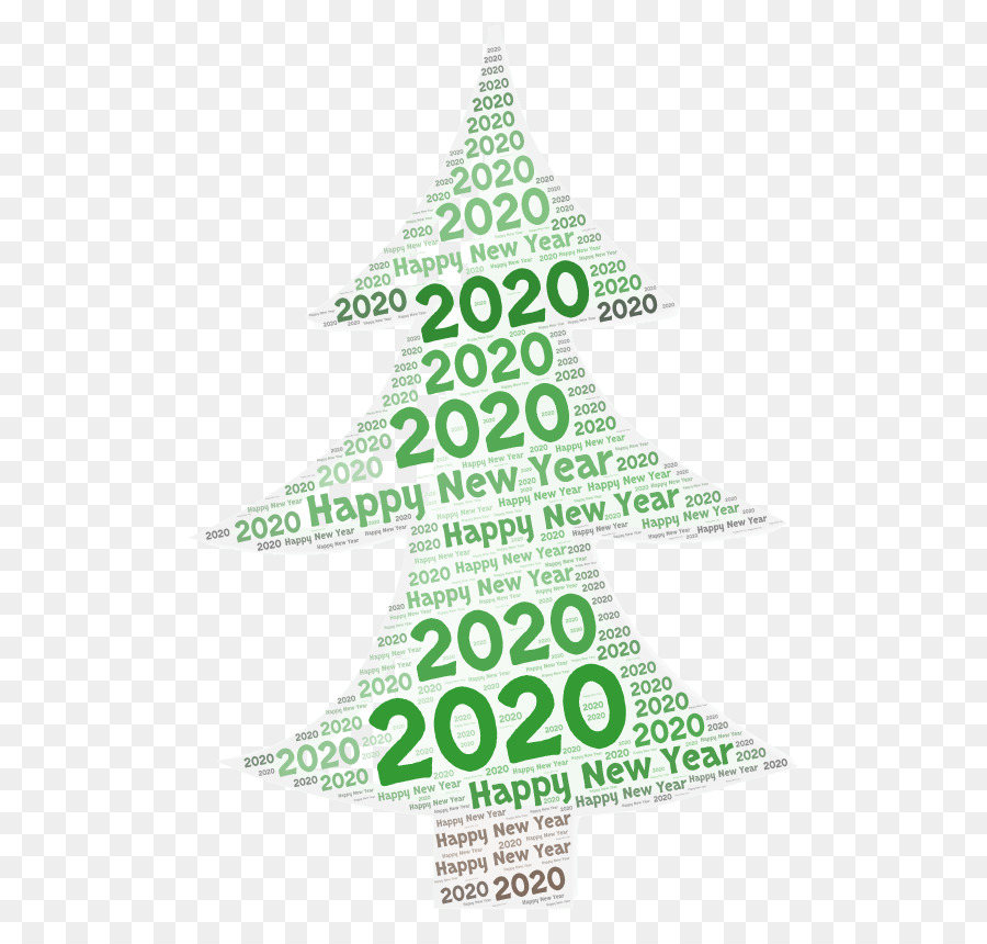 Happy New Year 2020 Design png download - 587*850 - Free
