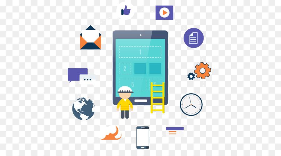 Mobile App Development Line png download - 575*481 - Free